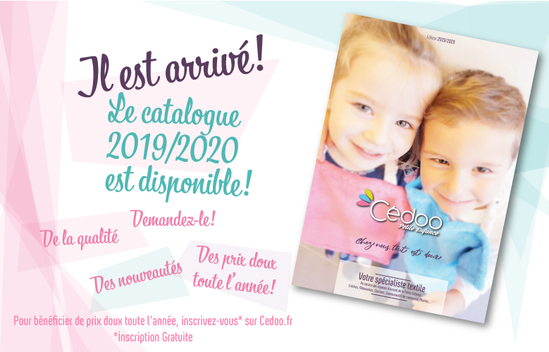 Le nouveau Catalogue Cédoo textile dédié aux professionnels de la Petite Enfance est arrivé!